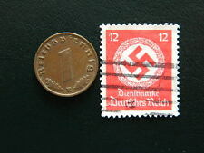 Set of Third Reich German coin - 1 pfennig and stamp with Swastika - (C6)