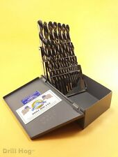 Drill Hog USA 29 Pc Left Hand HI-Molybdenum M7 Drill Bit Set Lifetime Warranty