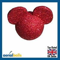 Red Glitter Disney Mickey Mouse Car Aerial Ball Antenna Topper