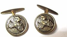 VINTAGE CUFFLINKS CLASSIC CAR DARKENED FRENCH STYLE DETAILED AUTOMOBILE