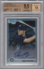 2010 BOWMAN PROSPECTS CHROME DUSTIN ACKLEY RC BGS 9.5 AUTO 10 #BCP89