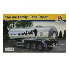 "Rimorchio cisterna ""we are family""Tank Trailer trasporto latte ITALERI 3731 1/24"