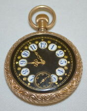 Tuxedo 16S OF 3/4 Plate Pocket Watch No. 804586 : With a fancy black d... Lot 87