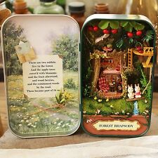 DIY Dollhouse Miniature 3D Doll House Box Theatre Kid Puzzle Toy Gift Snow Dream