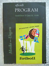 1958 World Cup Finals Programme Mexico v Hungary, 15 June (Org*, Exc*)