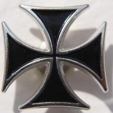 Iron Cross Eisernes Kreuz Biker Hosenknopf Knopf zum Schrauben Black NEU