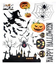 Halloween Removable Wall Stickers Spider Printed   Aura Party Decal Mural Paper