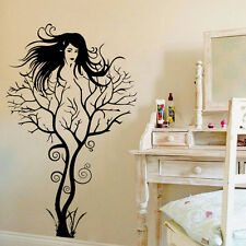 New Novel Art Tree Sexy Naked Lady hair Wall sticker Wallpaper wall decals mural