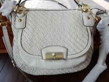 NWT COACH KRISTIN WOVEN LEATHER ROUND SATCHEL/CROSSBODY F23048 NWT  $558.00