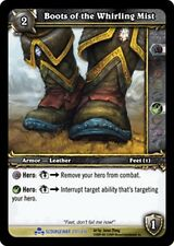 WOW WARCRAFT TCG SCOURGEWAR RARE : BOOTS OF THE WHIRLING MIST X 4