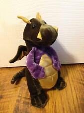"""Homer the Stuffed Green and Gold 7"""" Dragon by Douglas Toys #717"""