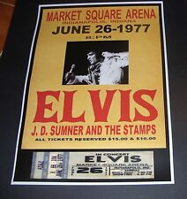 ELVIS PRESLEY Concert Poster Last Concert Market Square Indianapolis 1977 Repro