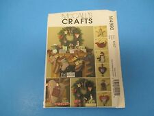 Vintage Sewing Pattern, McCall's M4990 Crafts, Fat Quarters Christmas Items S828