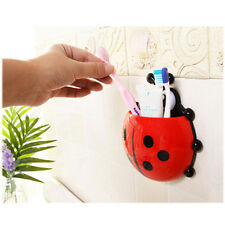 Cute Novelty Toothbrush Holder With Suction Cup Toothpaste Holder Big Ladybird