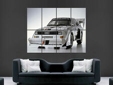 AUDI QUATTRO RALLY CAR CLASSIC  ART WALL LARGE IMAGE GIANT POSTER !!