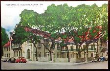 1930's Postcard Plaza de la Constitution Post Office St Augustine Florida