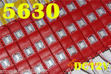 20Pcs X 3 LED RED 5630 SMD Injection Waterproof Module lens High Glow Light