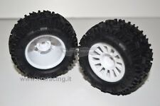COPPIA RUOTE COMPLETE MONSTER TRUCK TRUGGY ESAGONO 9 mm 1/18 OFF ROAD 18081 VRX