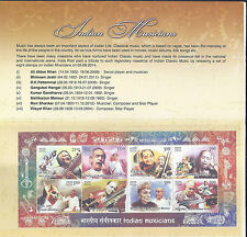 2014 INDIAN MUSICIANS-PRESENTATION PACK with Stamps / Miniature Sheet