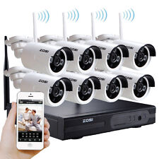 ZOSI 8CH HD 960P Wireless Outdoor Camera System CCTV Home Security HDMI NVR Kit