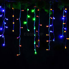 110V-220V 96~480 LED String Fairy Lights Xmas Wedding Decor Icicle Curtain Lamp