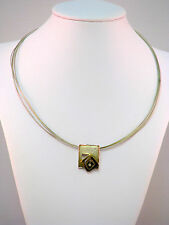 Quinn Franz Scheurle Halskette Collier Silber 925 mit 14 Karat 585 Gold Zirkonia