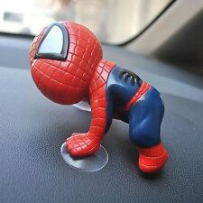 Car SUV Interior Window Dashboard View Mirror Decorative Toy Cute Spiderman Doll