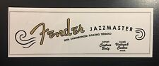50's style Fender Jazzmaster Waterslide Decal (updated)