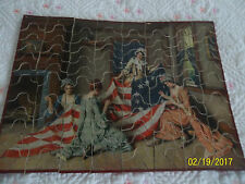 Vntg.1920's Double Sided Madmar Wooden Puzzle AmericanSeries #520 Betsy Ross