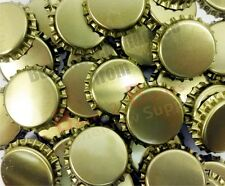Crown Seals Bottle caps gold -  100 seals - For the Home Brew Hobbyist