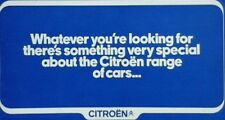 Citroen range All Models Sales Brochure - October 1972 - includes DS & SM