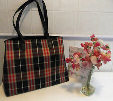 Fab Genuine Vintage Burberry Large Shopper Tote Bag Leather & Canvas Black NOVA