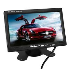 "Monitor Pantalla TFT LCD 7"" HD Coche Reposacabezas 2Ch & Mando For DVD VCR TV"