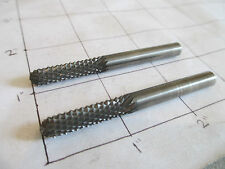 "2 Carbide Fiberglass Router Burrs 1/4"" x 1"" x 1/4"" Shank Ball Nose Diamond Cut"