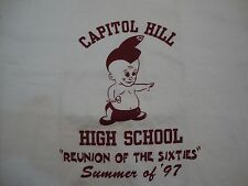 """Vintage Capitol Hill High School """"Reunion Of The Sixties"""" '97 White T Shirt L"""