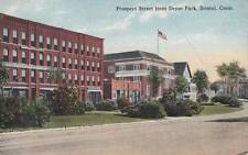 Antique POSTCARD c1915 Prospect Street from Depot Park BRISTOL, CT 16604
