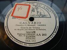 GRACIA DE TRIANA calvario / que buena soy - 78 rpm la voz de su amo white label