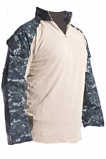 new Military Crye Precision Tactical Combat FR Shirt Custom Navy Digital Large R