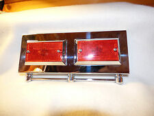 VINTAGE HARLEY DAVIDSON 2 FLH ACCESSORY SADDLE BAG GUARD LIGHTS W CLAMPS