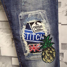 Fashion Pineapple Fabric Patches Stickers Clothes Decoration Diy Accessories