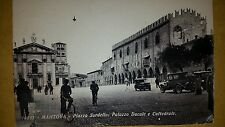 MANTOVA - PIAZZA SORDELLO: PALAZZO DUCALE E CATTEDRALE - VIAGGIATA ANIMATA 1933