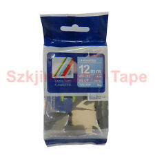 Brother TZ-535 P-Touch Laminating Compatible White on Blue Tape 12mm 8m TZe-535