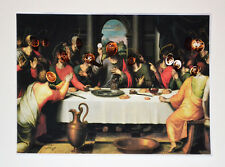 Original IRINA CRISTOBAL transformed artwork.Christ Last Supper.Unique art