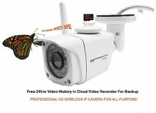 Microseven 1080P HD Wireless IP CAMERA +POE SDcard Slot Audio Outdoor IR NEW