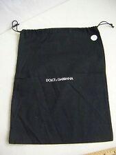 """DOLCE & GABBANA Pre-owned Black Cotton Shoes Dust Bag 1 pc-12.75"""" X 10"""" (D2)"""