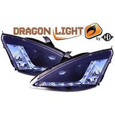 Coppia fari fanali anteriori TUNING FORD FOCUS 98 - 01 nero con luce diurna LED