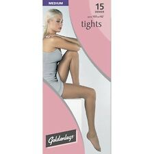 Goldenlegs 15 Denier Medium Tights - QUARTZ (Mid Grey), 2 pairs, BNIB, Freepost.