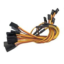 """5x New 300mm 12"""" Y Style Servo Extension Cord Lead Wire Cable JR Futaba 26AWG"""