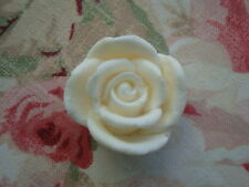 "Shabby & Chic ROSE KNOB* Furniture Cabinet Drawer Pull Resin 1 3/4"" Dia."