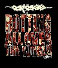 CARCASS cd lgo ROTTING ALL OVER WORLD Official SHIRT LRG New putrefaction